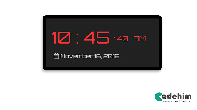 Led Style jQuery and CSS3 Digital Clock Widget [upcoming]