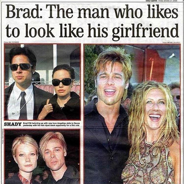 brad pitt likes to look like his girlfriend ブラッド ピットは交際