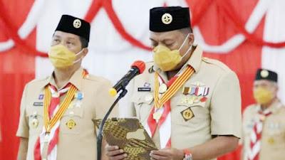 Gubernur Olly Jabat Ketua Mabida Kwarda Gerakan Pramuka Sulut Periode 2020-2025