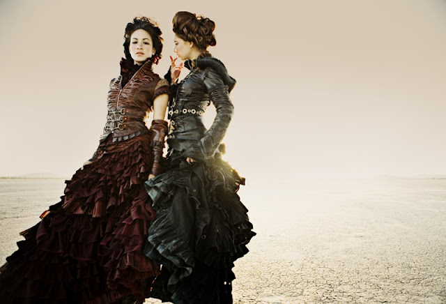 Women's steampunk clothing - leather steampunk dresses for a dieselpunk/apocalyptic feel