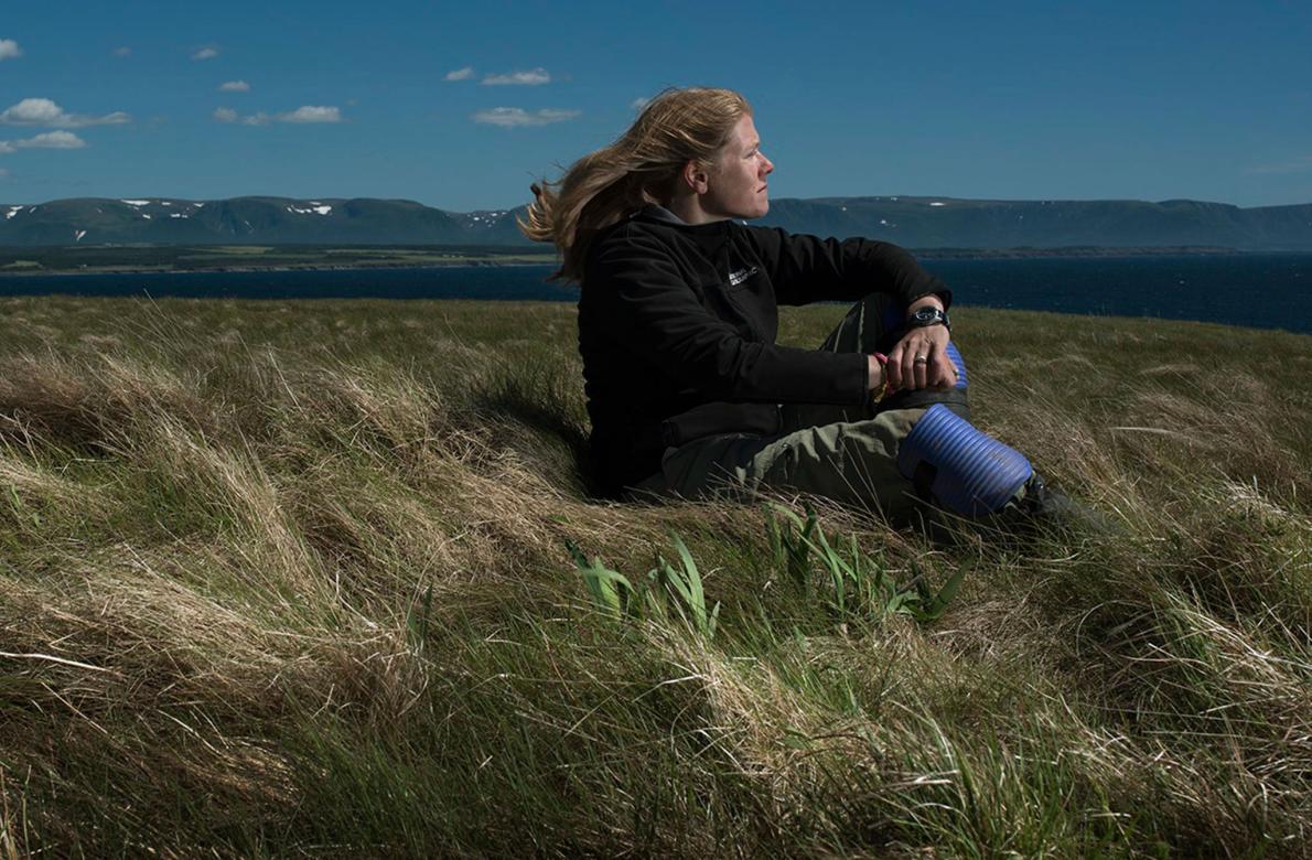 Sarah Parcak, arqueóloga y ganadora del Premio TED 2016. Créditos:National Geographic