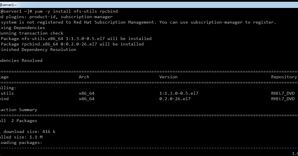 Installing and Configuring NFS Server on RHEL7