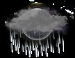 zachmurzenie duże, deszcz
