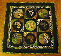 Jungle Windham fabrics mini quilt