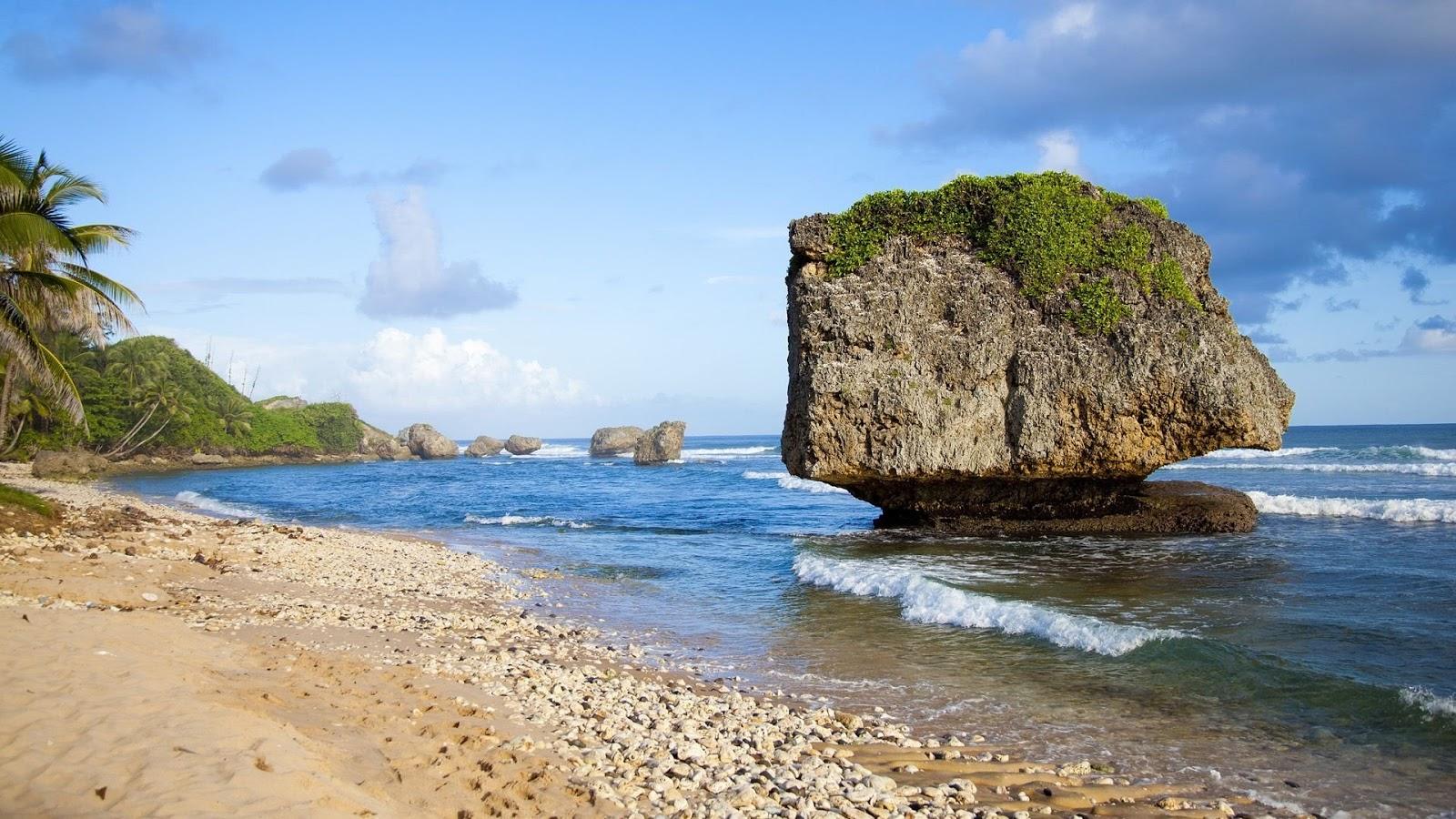 Bathsheba Beach,Barbados HD Background