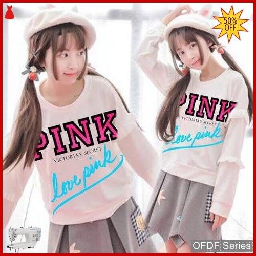 OFDF265 Atasan Blouse Love Pink Only Modis BMGShop
