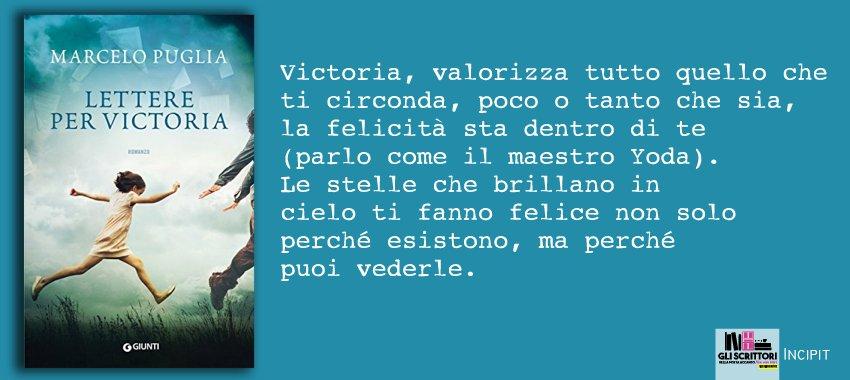 Lettere per Victoria, di Marcelo Puglia: incipit