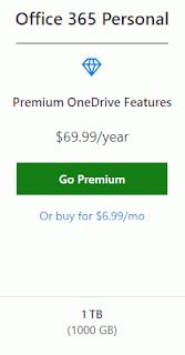 Gratis 1TB (Terabyte) Storage OneDrive