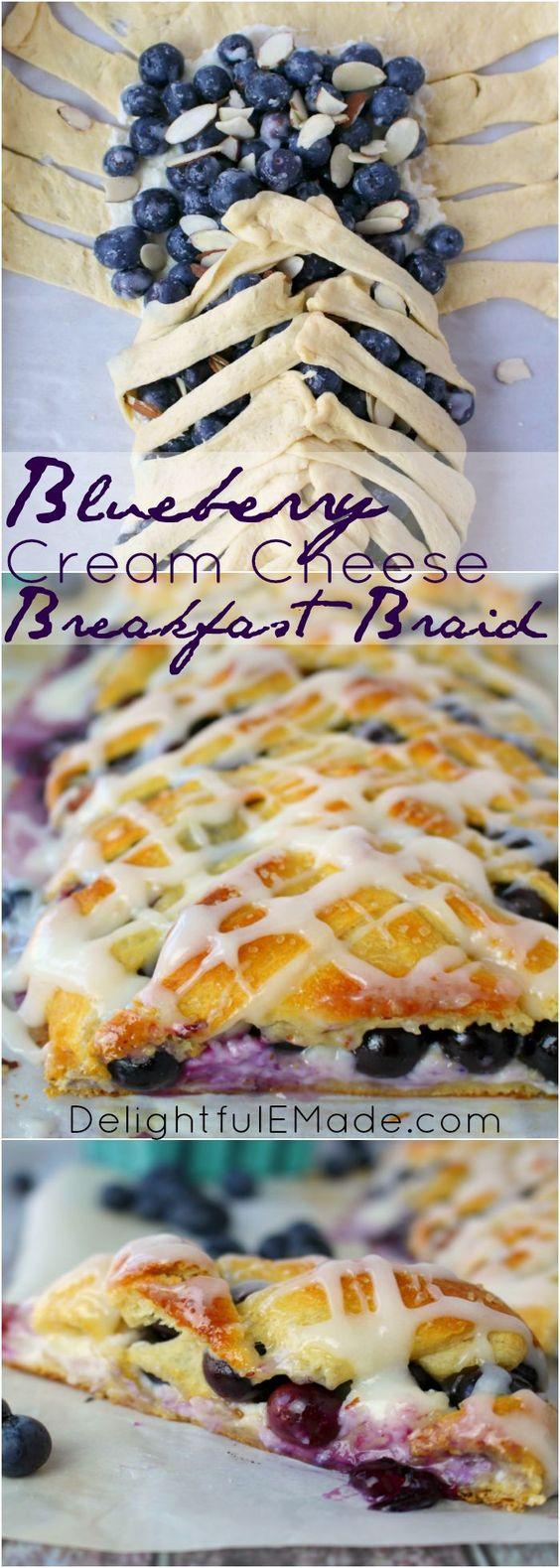 BLUEBERRY CREAM CHEESE BREAKFAST BRAID