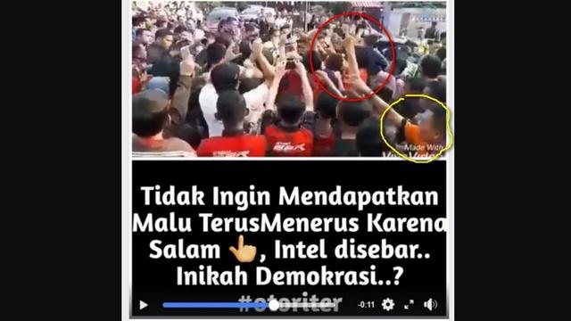 Geger Video Warga yang Salam 2 Jari Diciduk dan Ditarik dari Kerumunan Menyambut Jokowi