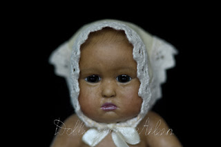 OOAK artist baby girl doll's face