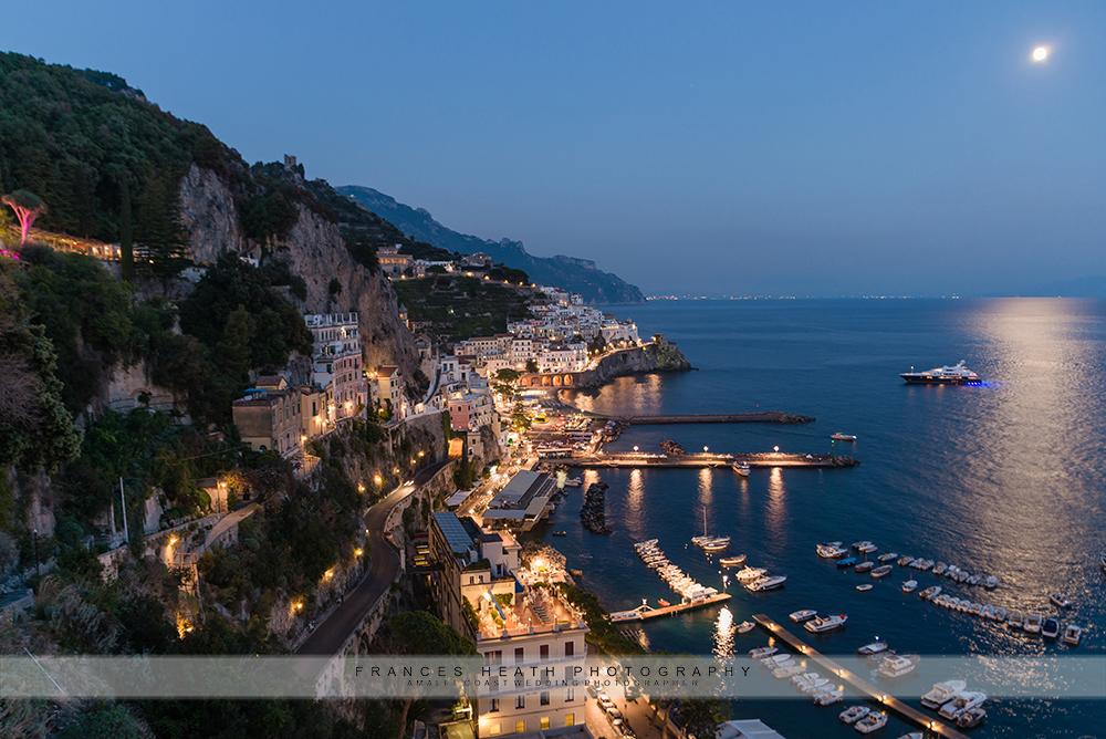 Night view Amalfi