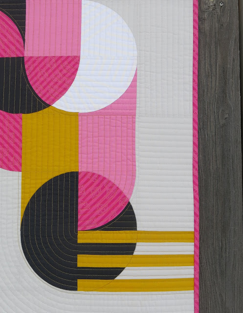 Luna Lovequilts - Bubble Gum - Detail