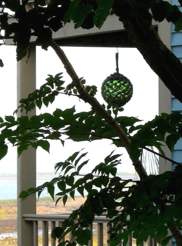 decorative glass ball hanging