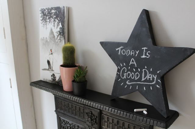 DIY chalkboard star