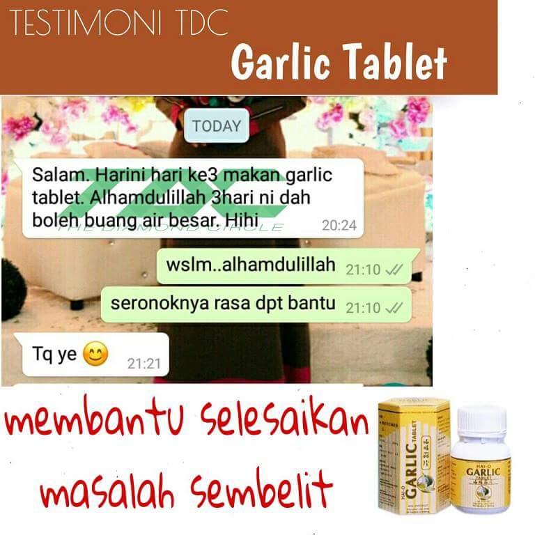 Hasil carian imej untuk testimoni tdc garlic tablet