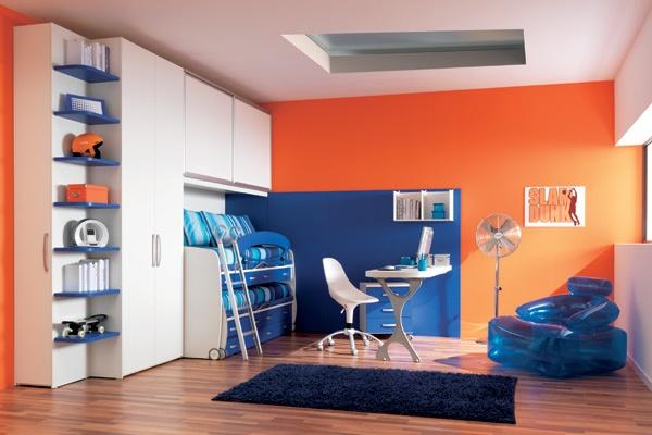 Dormitorios para ni os color naranja dormitorios con estilo - Habitacion para 2 ninos ...