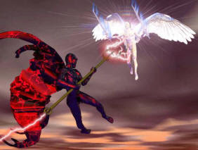 how demon fight and combat with angel of God