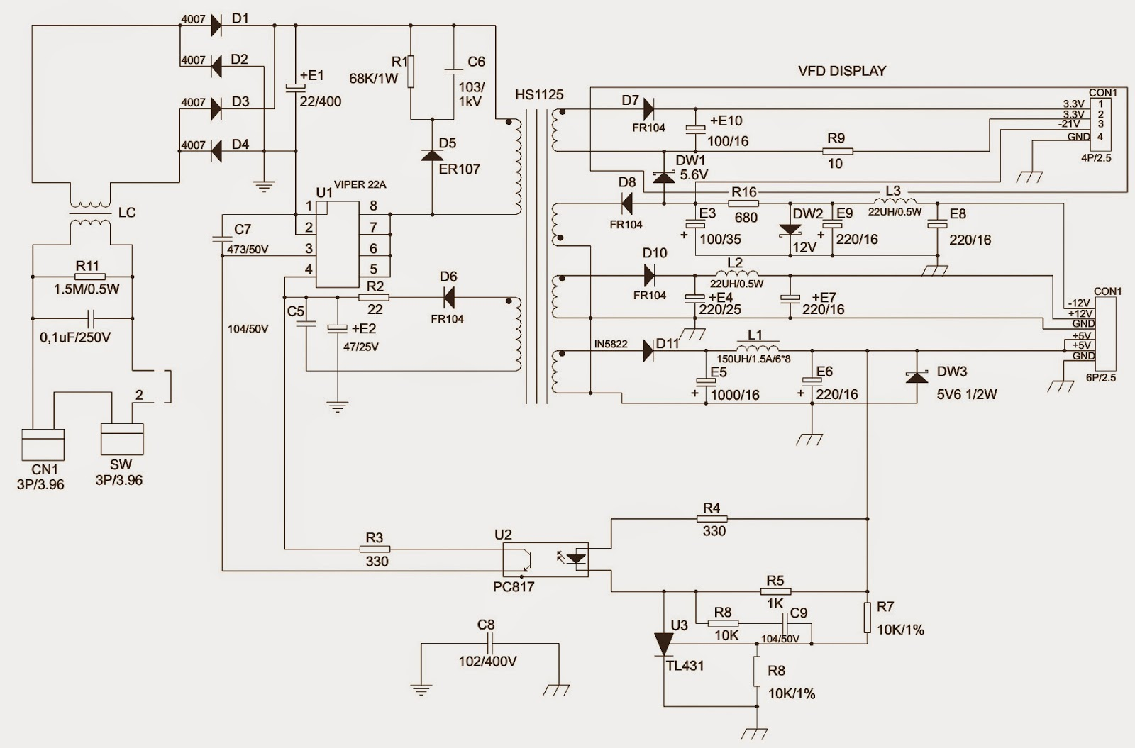 Schematic Diagrams Britania Dvd Game Game Usb Smps