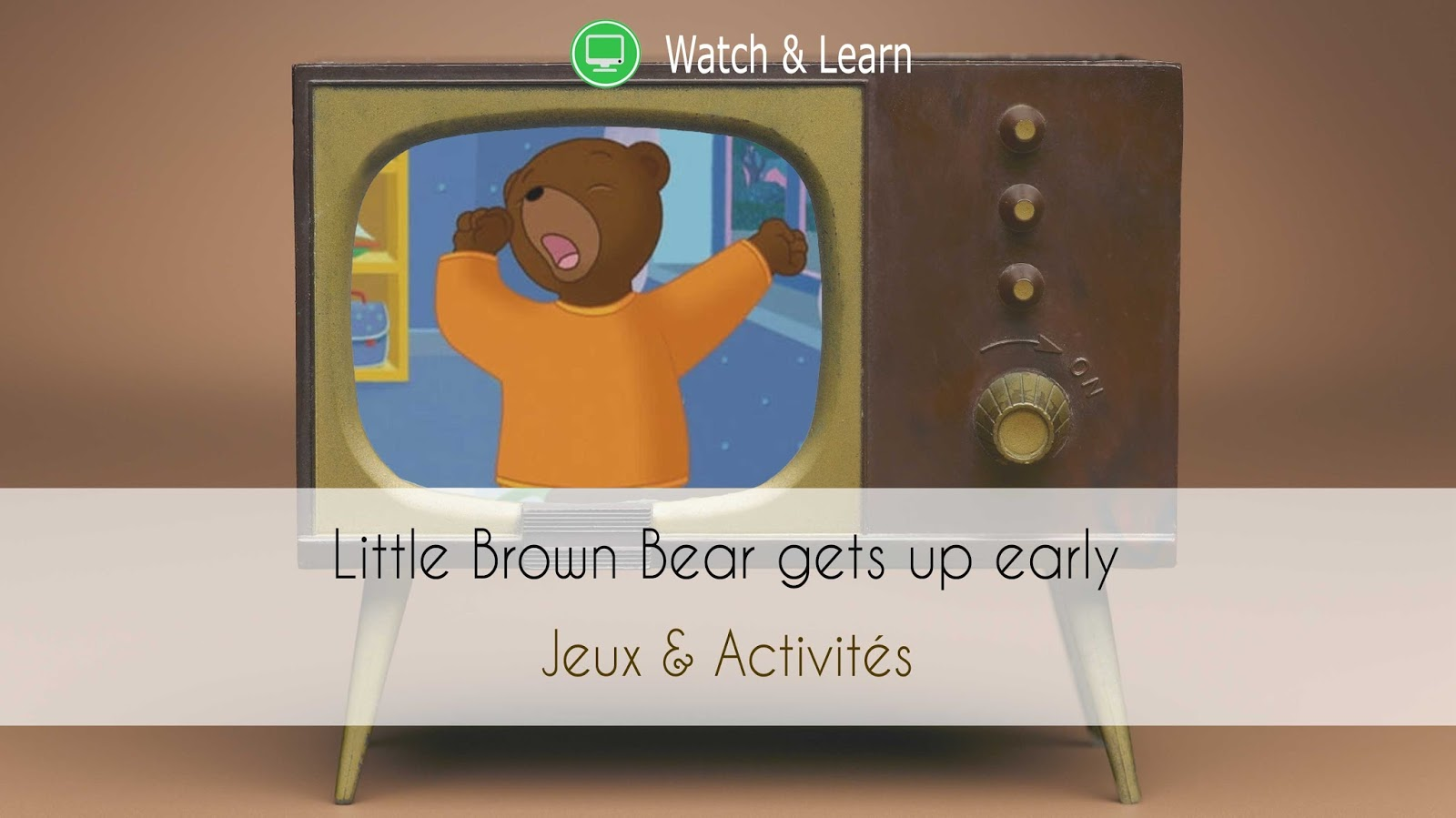 High Five Illustration Family Petit Ours Brun se lève tôt apprendre anglais bilingue