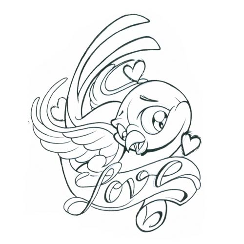 Love Tattoo Outlines: Sparrow Tattoos Ideas: Pictures Of Lovebird Tattoos