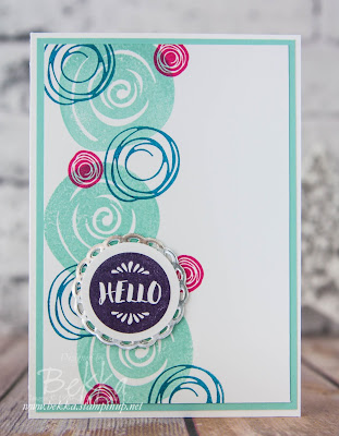 Hello Swirly Bird Card made with supplies from Stampin' Up! UK - buy Stampin' Up! UK Supplies here
