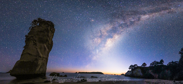 milky way cathedral cove