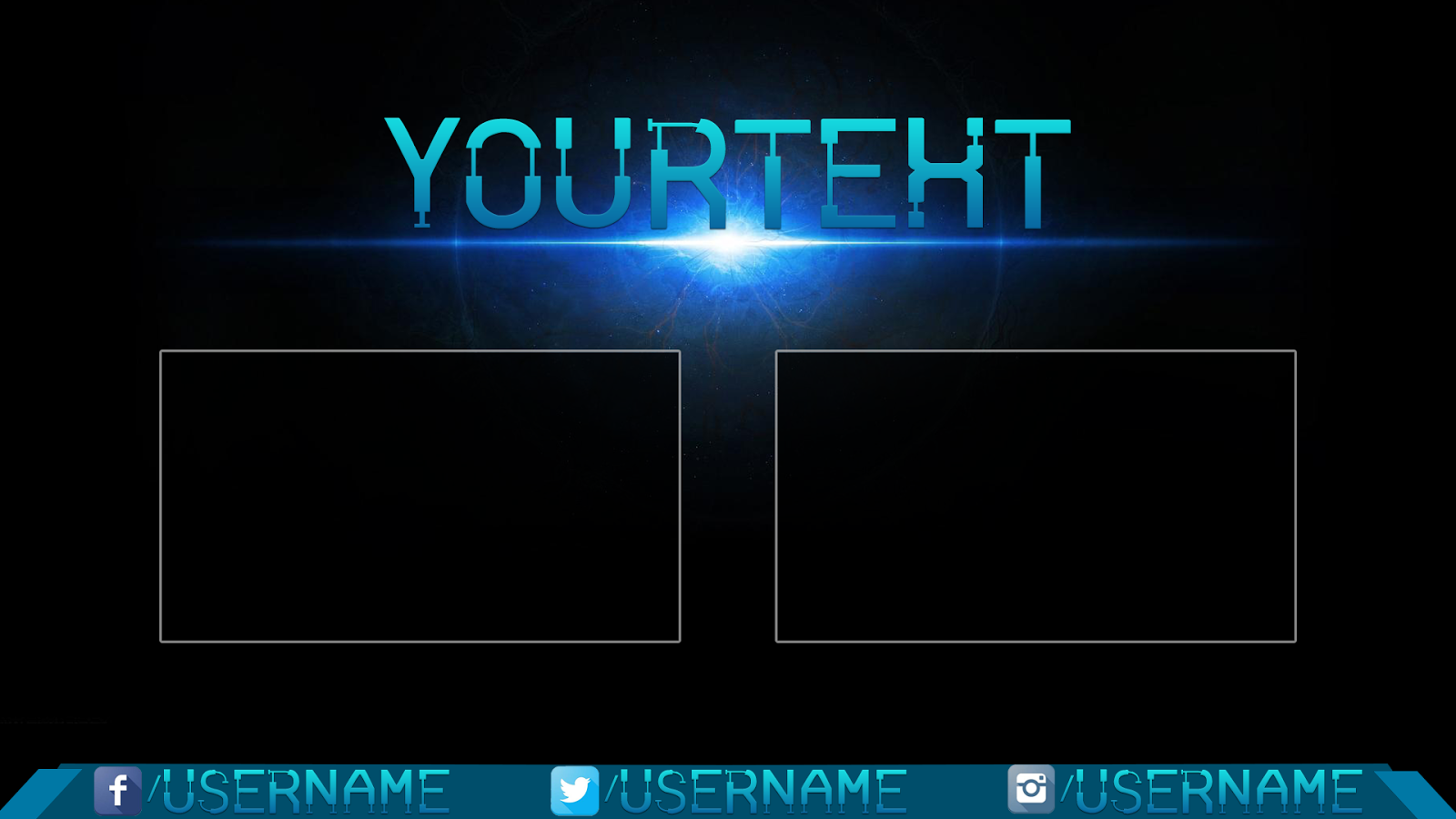 Infinite galaxy cool outro template outro template 4 for Cool outro
