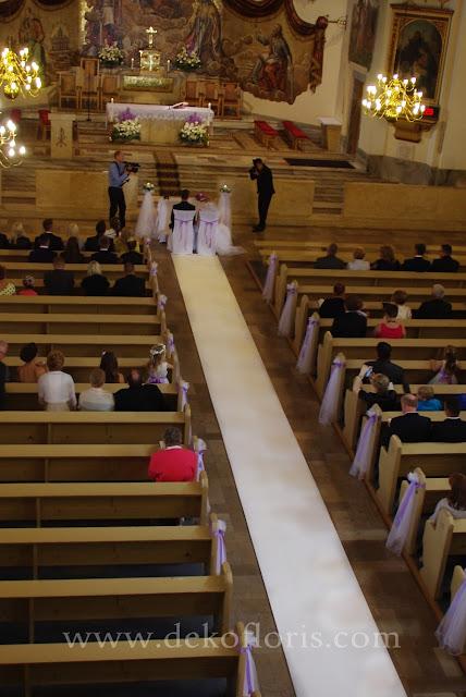 Dekoracja ślubna kościoła opolskie Hochzeitsdekoration Kirche