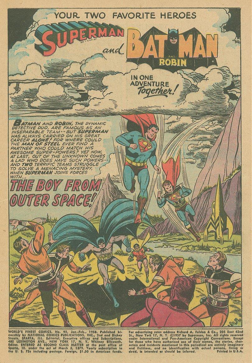Read online World's Finest Comics comic -  Issue #92 - 16