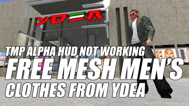 Free Mesh Men's Clothes At YDEA Style • TMP Alpha HUD Not Working