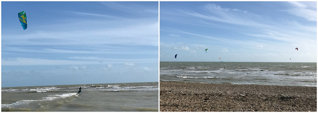 A windy walk along Goring Beach, West Sussex