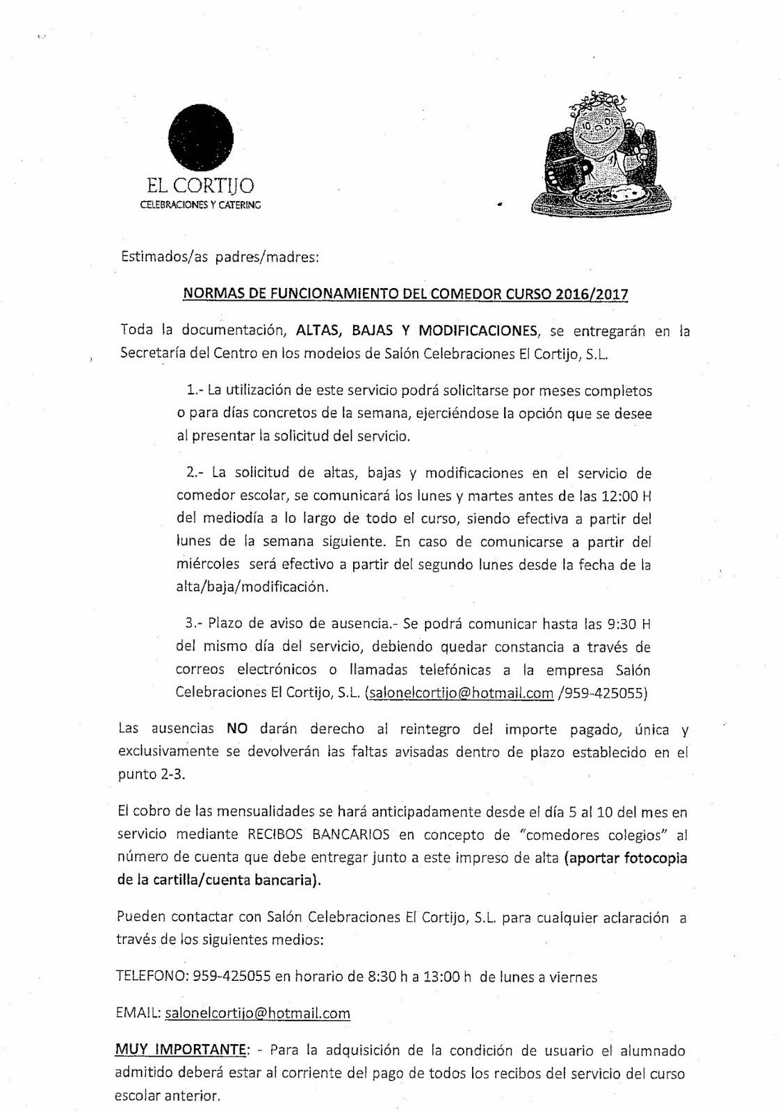 C.E.I.P ANTONIO GUERRERO: COMEDOR, AULA MATINAL Y ACTIVIDADES ...