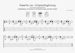 Stand by Me - Guitar Chords und Tabs / Gitarrenbegleitung