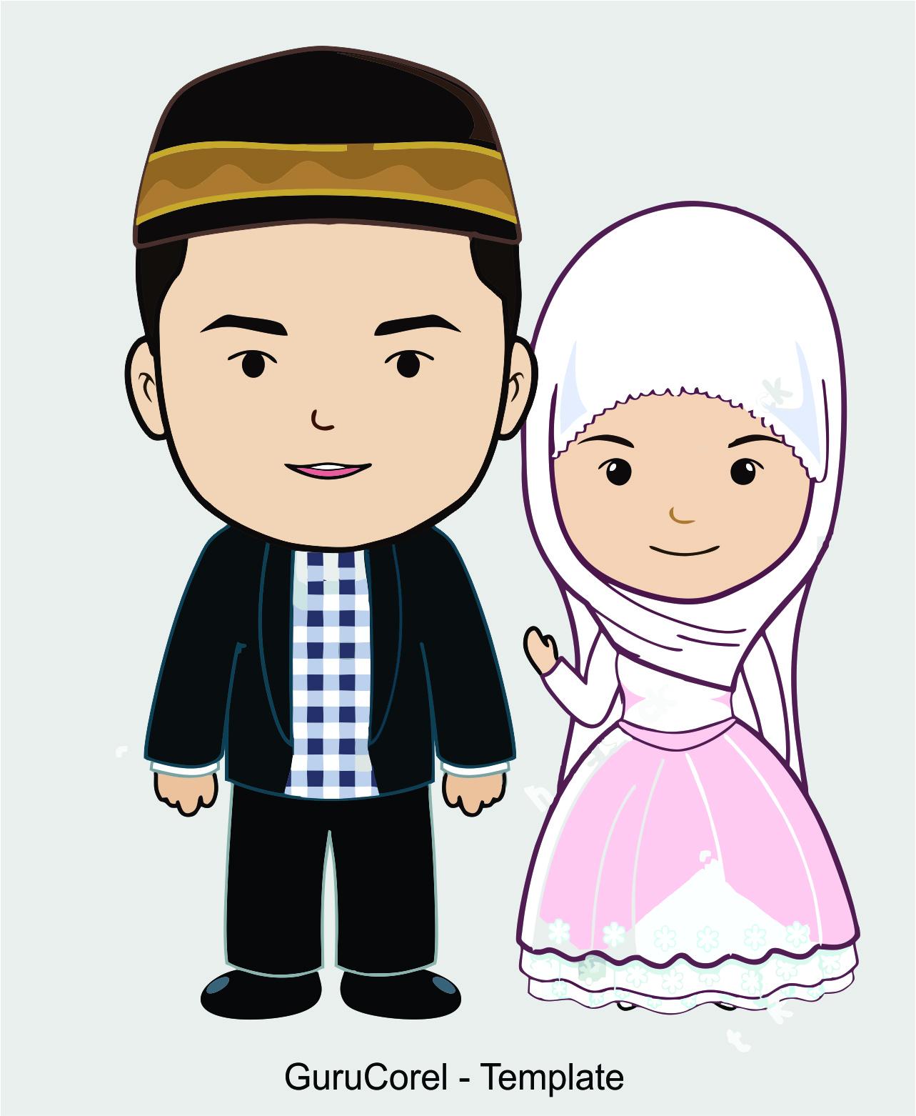 Free Vector CorelDraw Wedding Muslim  Guru Corel