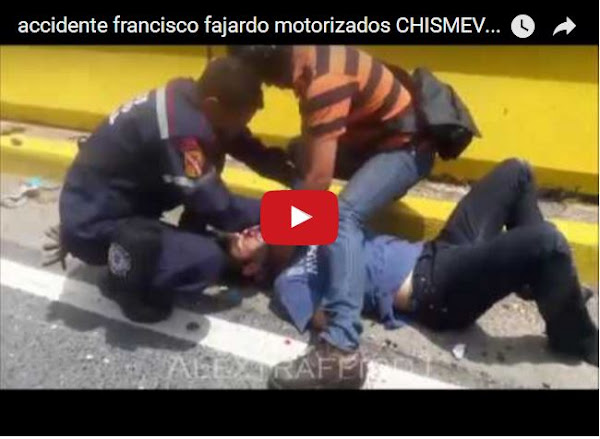 Accidente mortal entre motorizados en la Francisco Fajardo