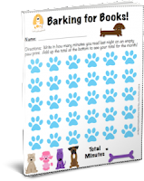Want your copy of the Barking for Books reading log?