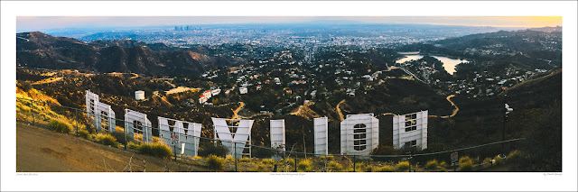 Caleb George Hollywood Sign wide panoramic photo prints for sale, wikipedia Owen Art Studios Panoramas