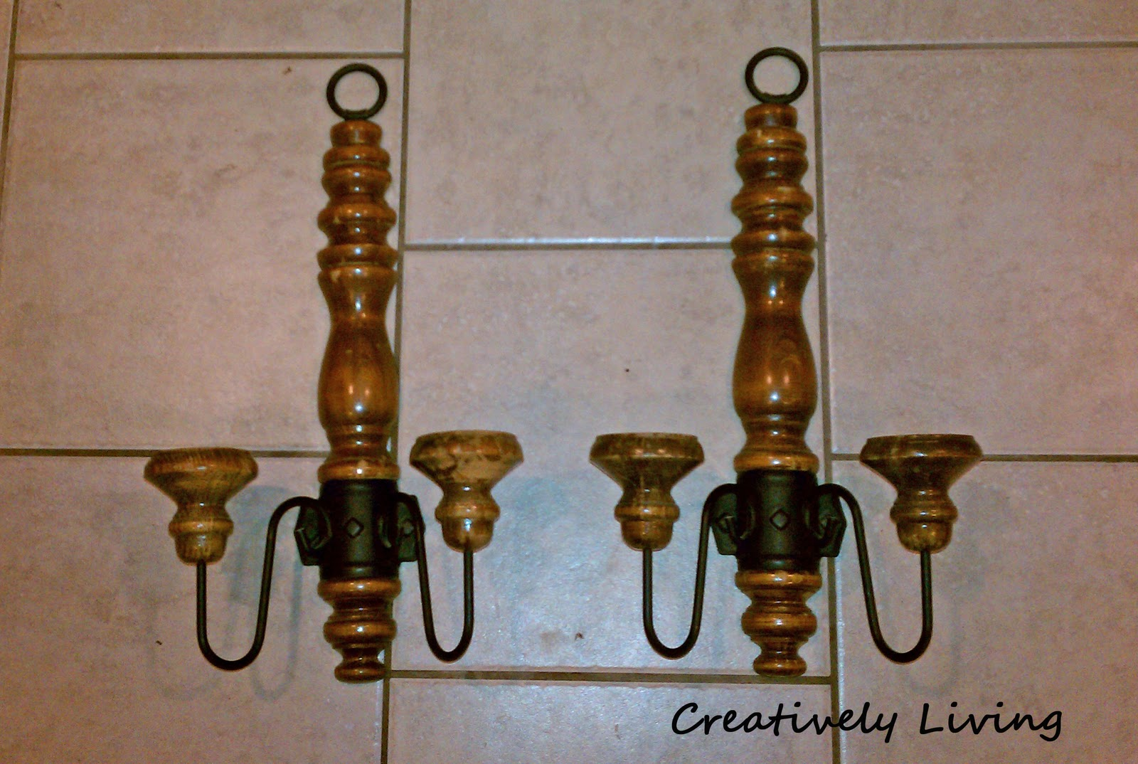 Wall Sconces to Candelabra...next project on the Room Re-Do ...