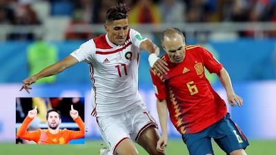 المغرب ضد الإسبان هدف التعادل بقدم إيسكو من تمريرة لإينييستا Maroc Vs Espagne 2018