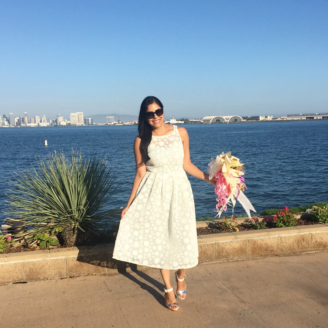 little white dress, white midi dress, san diego fashion blogger, what to wear to your rehearsal dinner