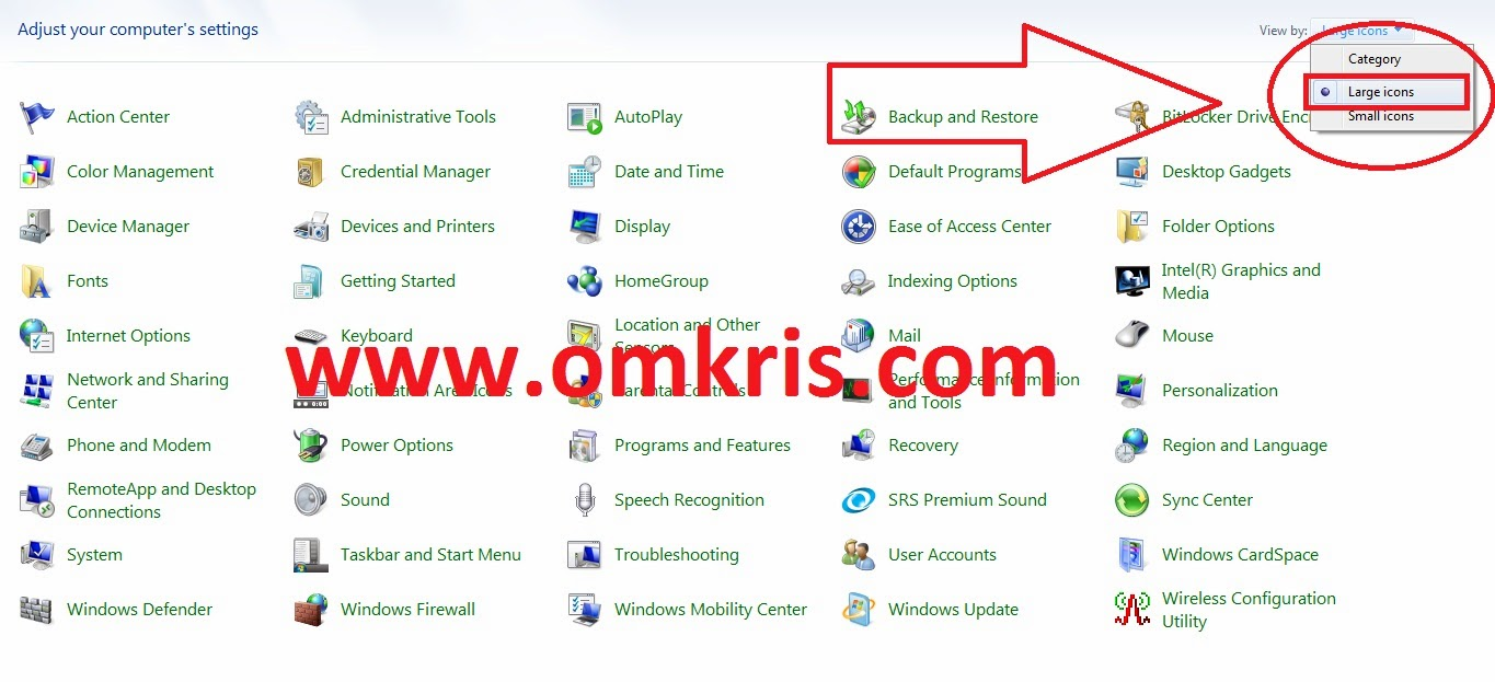 OM Kris : Teknik Membuka Control Panel Windows 7 Windows 8/8.1 Terbaru Dengan Sederhana