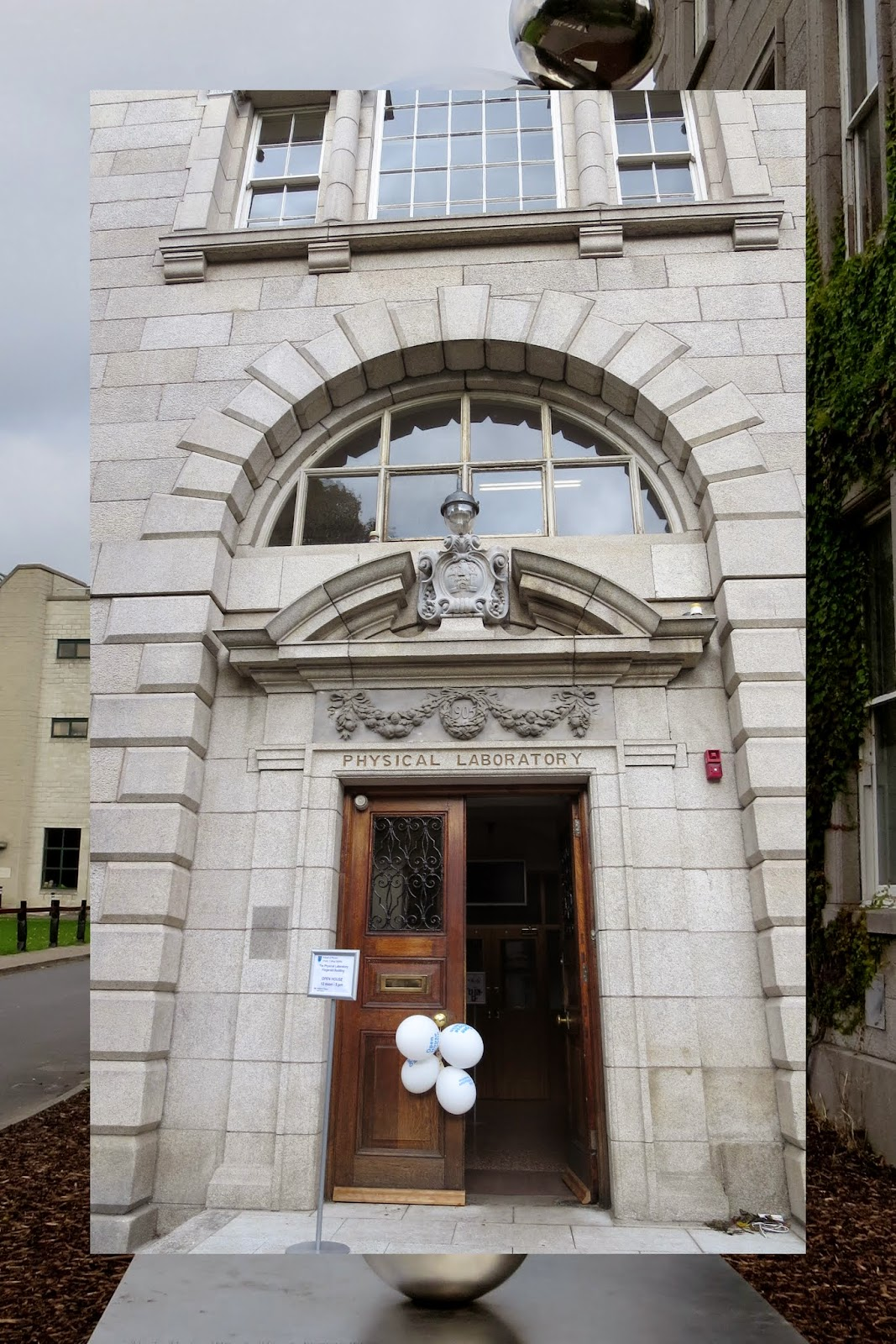 Entrance to Physical Laboratory at Trinity College Dublin
