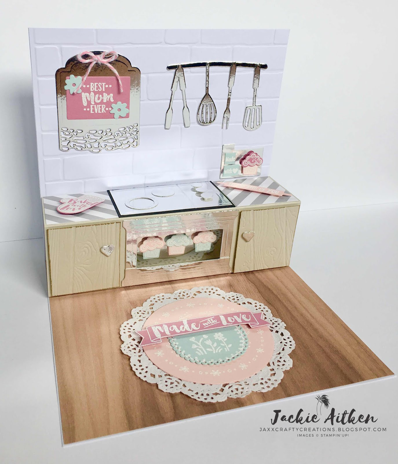 BAKED WITH LOVE KITCHEN CARD TUTORIAL