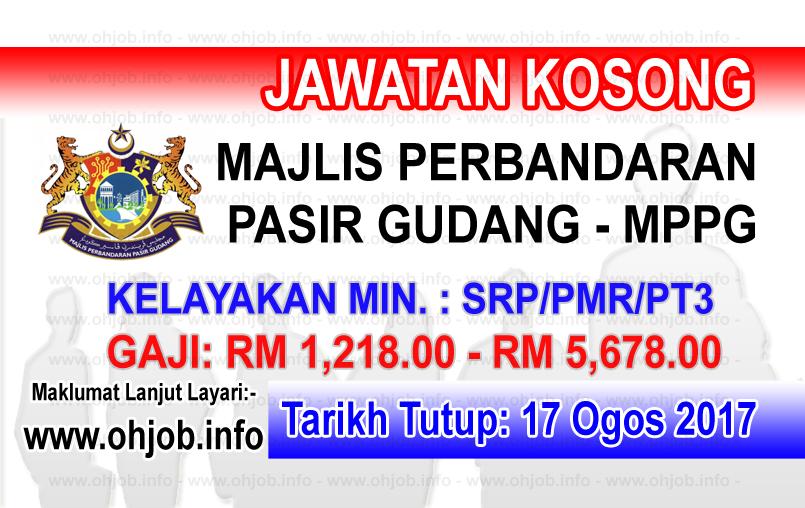 Jawatan Kerja Kosong Majlis Perbandaran Pasir Gudang - MPPG logo www.ohjob.info ogos 2017
