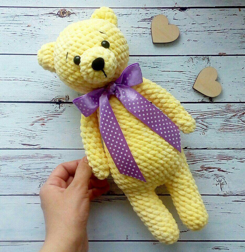 Crochet plush bear amigurumi
