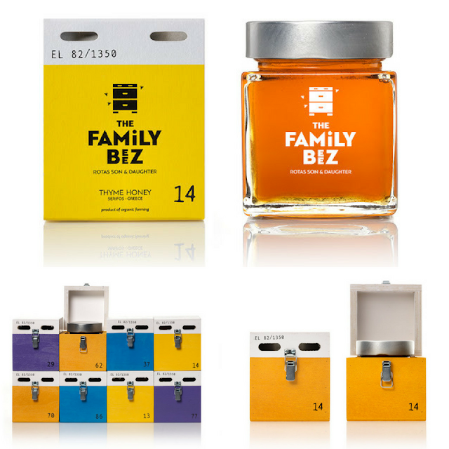 Family Beez honey packaging, mousegraphics
