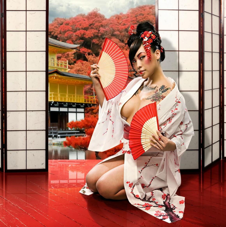 Erotic geisha canvas prints
