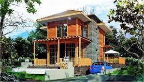 contoh desain rumah kayu berlantai 2 | desain properti