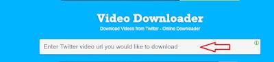 تحميل الفيديو من تويتر للكمبيوتر